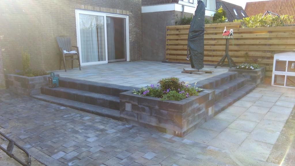 Duurzame schutting terras erfafscheiding idee n mooi van tuin